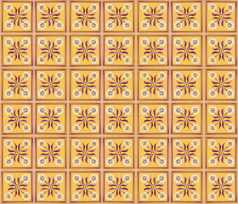 daisy_yellow fabric by mybohohome on Spoonflower - custom fabric