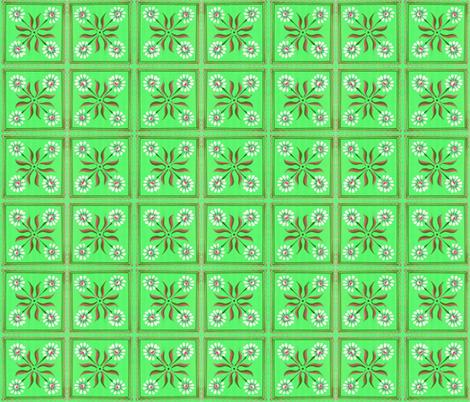 daisy_green fabric by mybohohome on Spoonflower - custom fabric