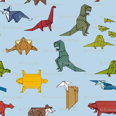 Dinogami, blue