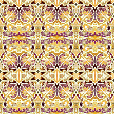 Spadeflower Fronds Amid the Sands of Love fabric by edsel2084 on Spoonflower - custom fabric