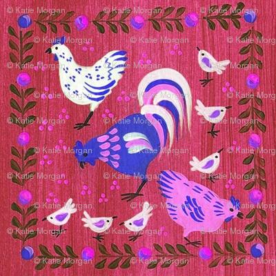 Spring Chickens- Plum