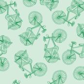 Bikes Blue Green