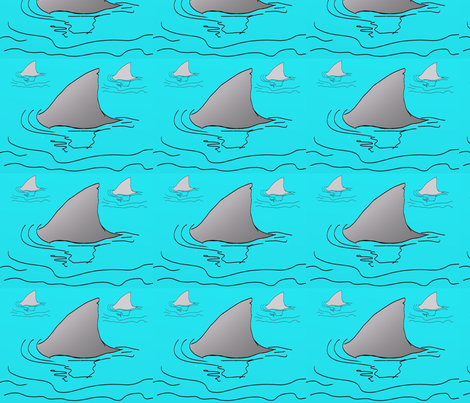 Jaws fabric by tajaan on Spoonflower - custom fabric