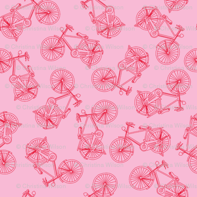 Bikes Red Pink