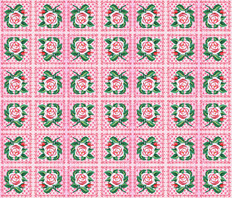 rose fabric by mybohohome on Spoonflower - custom fabric
