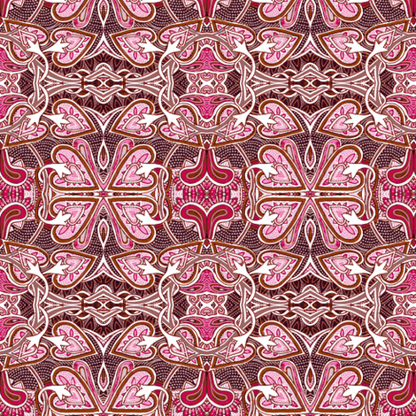 Celtic Love Knots, pink ciniversion fabric by edsel2084 on Spoonflower - custom fabric