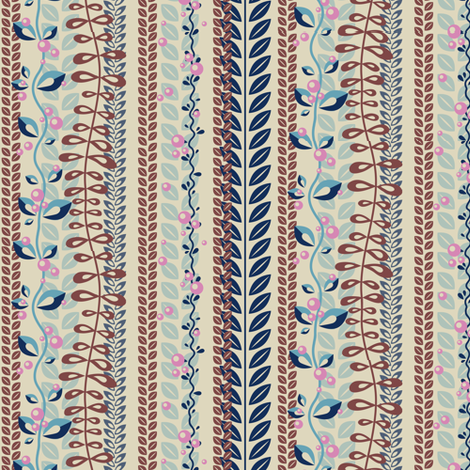 Coral flowers fabric by verycherry on Spoonflower - custom fabric
