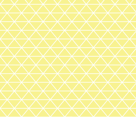 Triangle Mellow Yellow fabric by curious_nook on Spoonflower - custom fabric