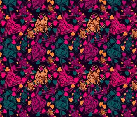 marzlene_beauty_2551 candy hearts fabric by marzlene'z_eye_candy on Spoonflower - custom fabric