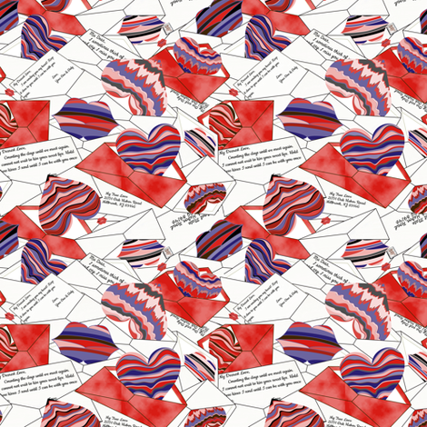 Parcel Post Romance fabric by mag-o on Spoonflower - custom fabric