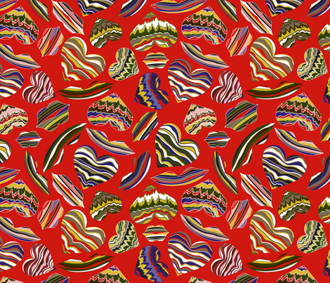 Red Hot Love fabric by mag-o on Spoonflower - custom fabric