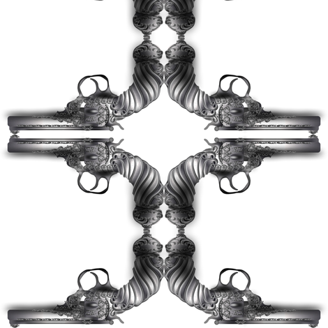 steampunk-gun fabric by boneyfied on Spoonflower - custom fabric
