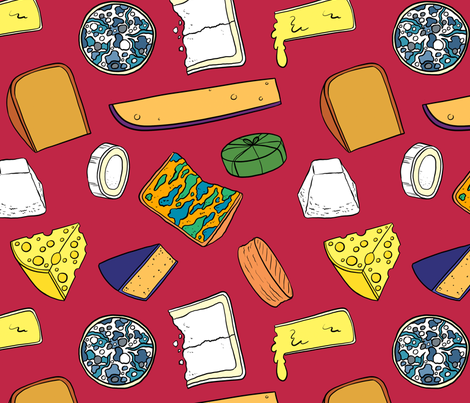 Cheese Obsession fabric by rosalarian on Spoonflower - custom fabric