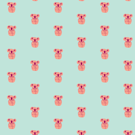 koala - pink  fabric by anieke on Spoonflower - custom fabric