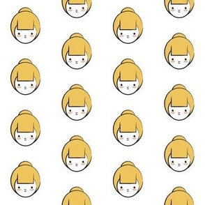Yellow Girl Pattern