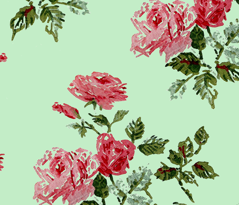 Roses fabric by angel_mio on Spoonflower - custom fabric
