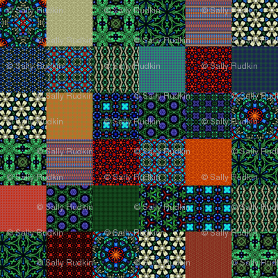 """Shandon Beauties Cheater Quilt - 3"""" Squares"""