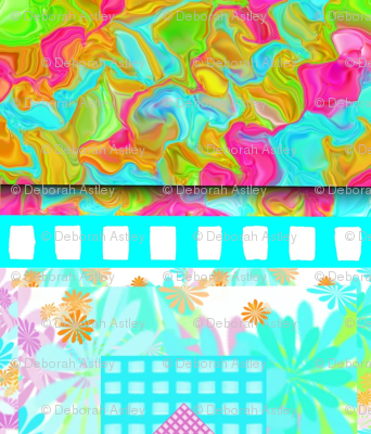 A Fancy Horizontal Stripe of Flowers, Grids, and Fractal Waves