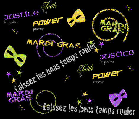 Laissez les bons temps rouler fabric by gg33 on Spoonflower - custom fabric