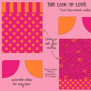Look of Love Cut & Sew Clutch Purse