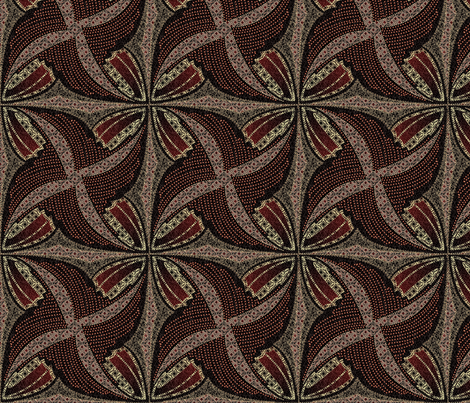 spindots afrikans garnet fabric by glimmericks on Spoonflower - custom fabric