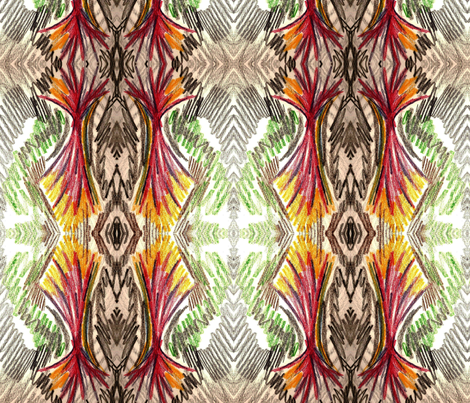 feathers 5 fabric by sewbiznes on Spoonflower - custom fabric
