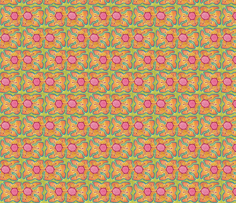 Small Double Flower fabric by claytown on Spoonflower - custom fabric