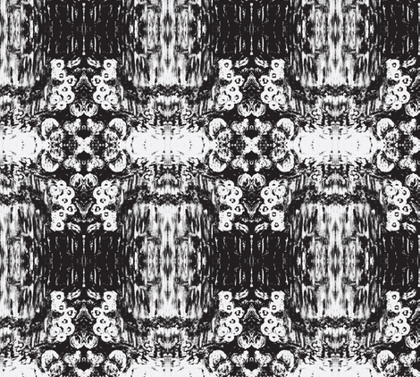 desertflowers-BW fabric by sewbiznes on Spoonflower - custom fabric
