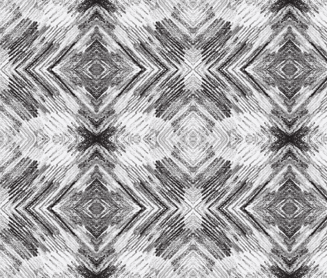 feathers 3-BW fabric by sewbiznes on Spoonflower - custom fabric