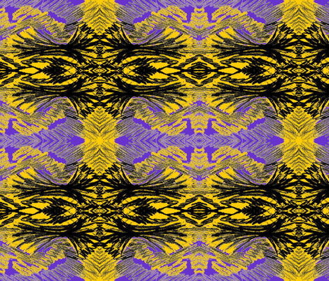 yellowandpurplefeathers fabric by sewbiznes on Spoonflower - custom fabric