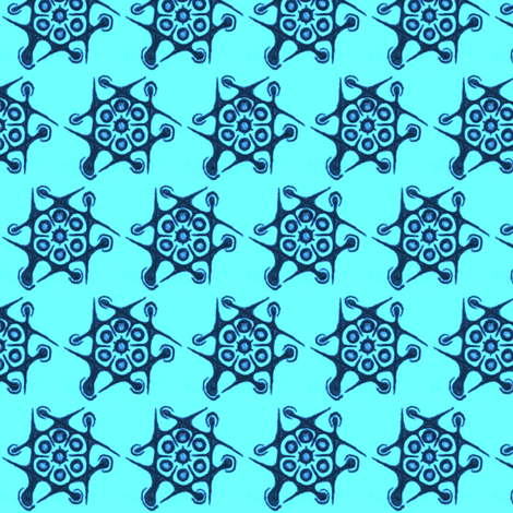 blue brains fabric by claytown on Spoonflower - custom fabric