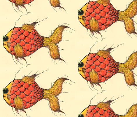 goldflish on your walls fabric by claytown on Spoonflower - custom fabric