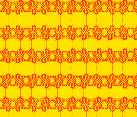 Sun Deavel fabric by claytown on Spoonflower - custom fabric