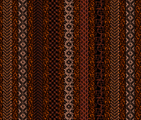 african_stripes madder fabric by glimmericks on Spoonflower - custom fabric