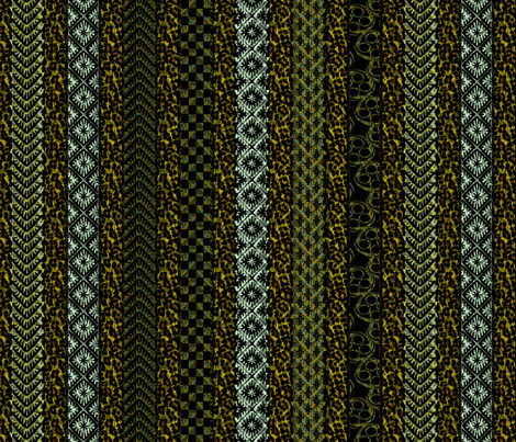 african_stripes meadow moss fabric by glimmericks on Spoonflower - custom fabric