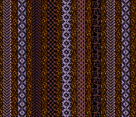 african_stripes mardi gras fabric by glimmericks on Spoonflower - custom fabric