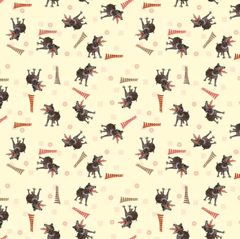 Tasmanian Devils on light yellow fabric by susiprint on Spoonflower - custom fabric