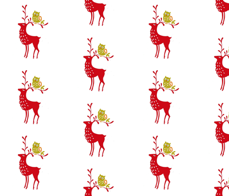 deer_fabric fabric by mybohohome on Spoonflower - custom fabric