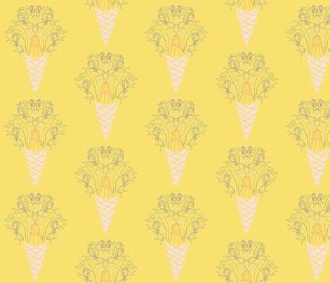 Fairground Print Yellow fabric by lousberry on Spoonflower - custom fabric