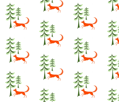 fox_fabric fabric by mybohohome on Spoonflower - custom fabric