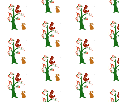 rabbit_fabric fabric by mybohohome on Spoonflower - custom fabric