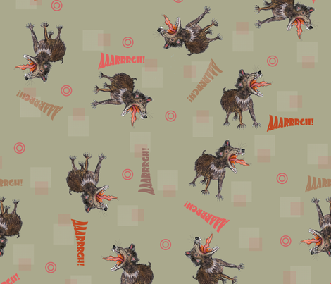 Tasmanian Devils on dark background fabric by susiprint on Spoonflower - custom fabric