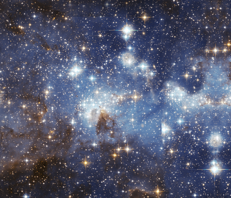 Star-Forming Region LH 95 in the Large Magellanic Cloud (tile) fabric by change on Spoonflower - custom fabric