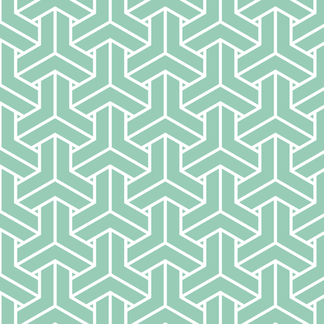 bishamon solid in jade fabric by chantae on Spoonflower - custom fabric