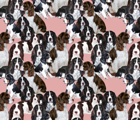 Springer Spaniel Mural fabric fabric by dogdaze_ on Spoonflower - custom fabric