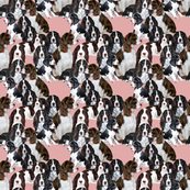 Springer Spaniel Mural fabric
