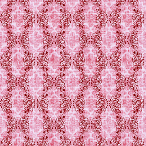 don juan rose trellis fabric by keweenawchris on Spoonflower - custom fabric