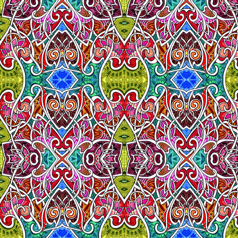 Paint Explosion in the Art Nouveau Coloring Book (bright, bold abstract) fabric by edsel2084 on Spoonflower - custom fabric