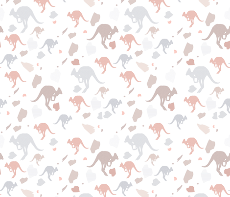 pastel kangaroos fabric by bricksandcolors on Spoonflower - custom fabric