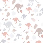 pastel kangaroos